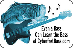 Online Bass Lessons Cartoon