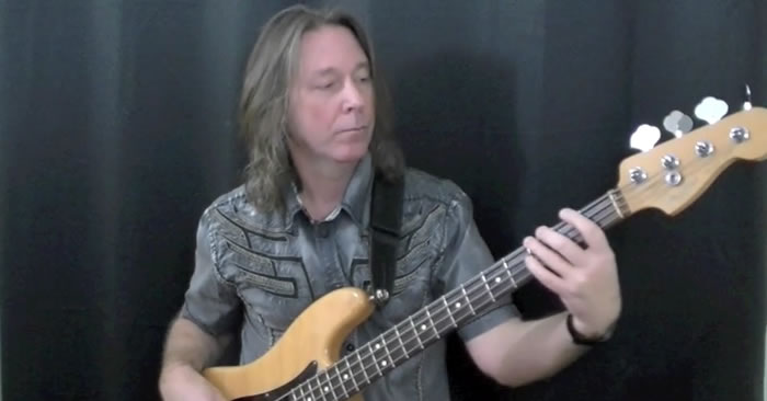 Shuffle Rock Bass Groove With Passing Tones