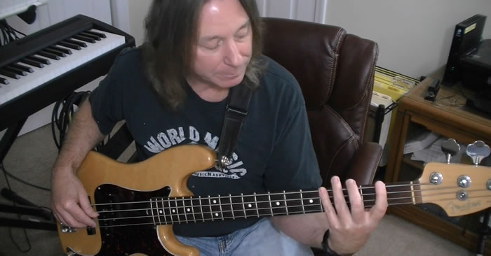 Mixolydian Pentatonic Blues Bass Line Ideas