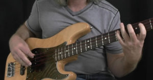 plucking hand blues bass moves